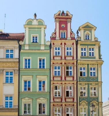 Naklejka fasady starych domów