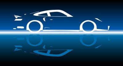 Naklejka Fast Car Reflection