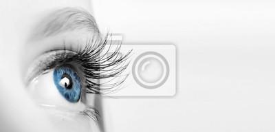 Naklejka Female eye with long eyelashes close-up