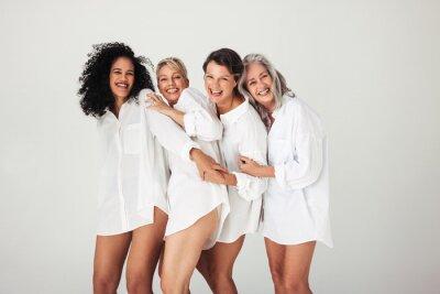 Naklejka Female models of all ages celebrating their natural bodies