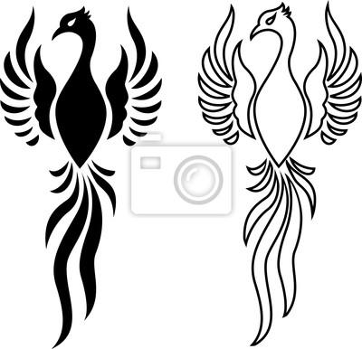 Feniks Tatuaż Ptak Naklejki Redro