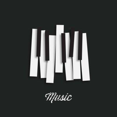 Naklejka festiwal muzyki jazzowej, szablon tło plakatu. Muzyka klawiatury fortepianu. Może być stosowany jako element plakatu lub ikonę. ilustracji wektorowych.
