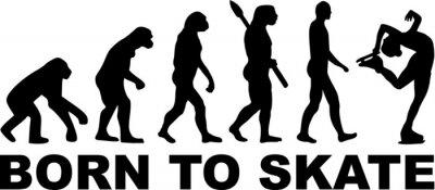 Naklejka Figure Skating Evolution Born to