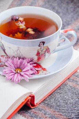 Naklejka filiżanka herbaty