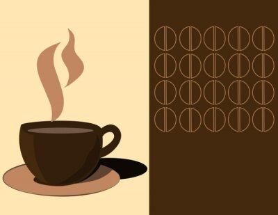 Naklejka filiżanka kawy