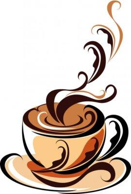 Naklejka Filiżanka kawy Aroma