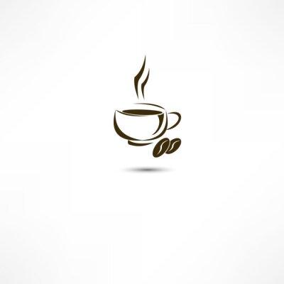 Naklejka Filiżanka kawy ikona