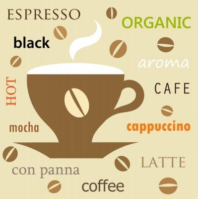 Naklejka Filiżanka kawy texture