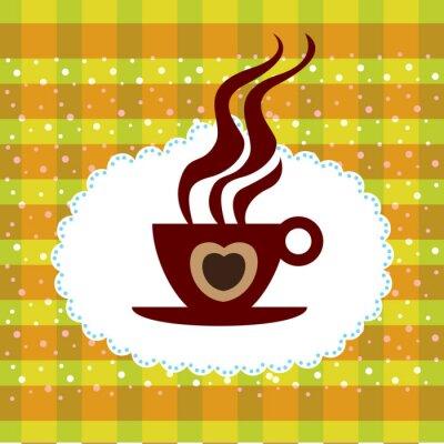 Naklejka Filiżanka kawy w tle