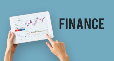 Naklejka Financial forex business chart report