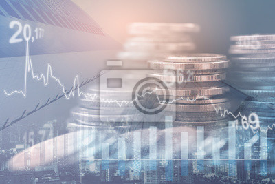 Naklejka Financial investment concept