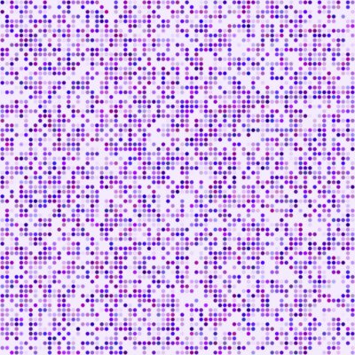 Naklejka Fioletowe kropki pikseli mozaiką w tle