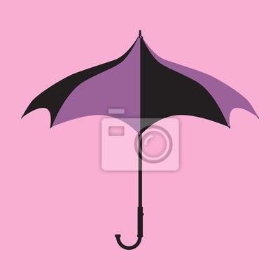 Naklejka Fioletowy Gothic Parasol