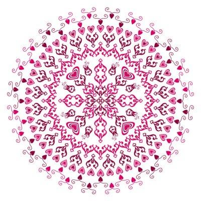Naklejka Fioletowy okrągłe ramki