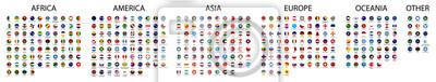 Naklejka Flag of world. Vector icons