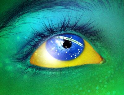 Naklejka Flaga Brazylii