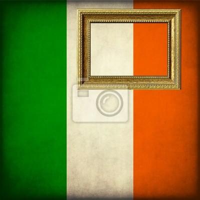 Naklejka Flaga Irlandii z dostosować ramy