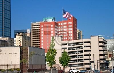 Naklejka Flaga Śródmieście jax skyline