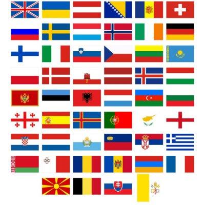 naklejka flagi pa stw europy na wymiar flaga czerwony ty. Black Bedroom Furniture Sets. Home Design Ideas