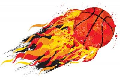 Naklejka Flaming Koszykówka