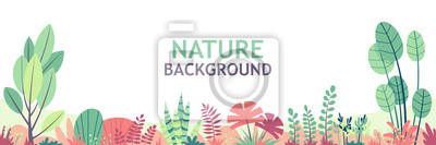Naklejka Flat nature background with copy space for text, for banner, greeting card, poster and advertising