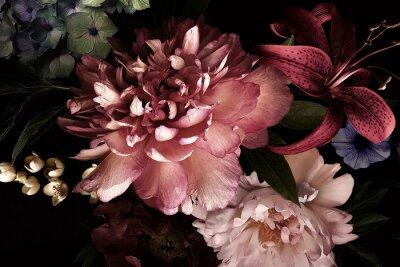 Naklejka Floral background. Vintage flowers.