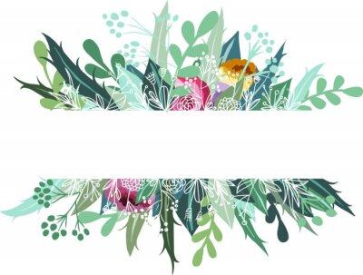 Naklejka Floral banner