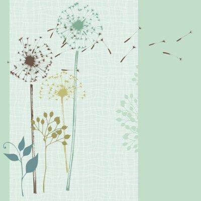 Naklejka Floral bez Niebieska karta