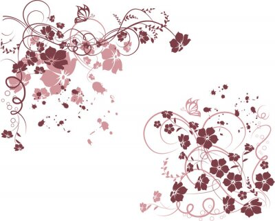 Naklejka floral frame