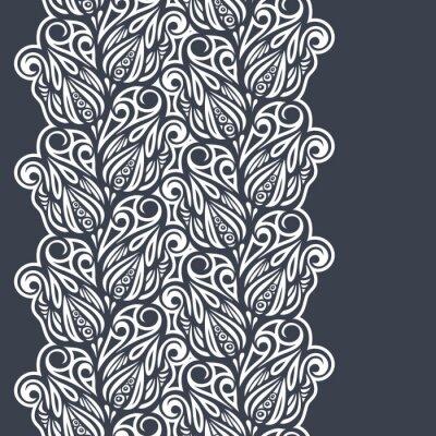 Naklejka Floral granicy projektu w stylu vintage