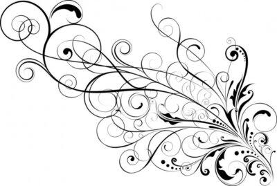 Naklejka Floral wzorów zdobniczych