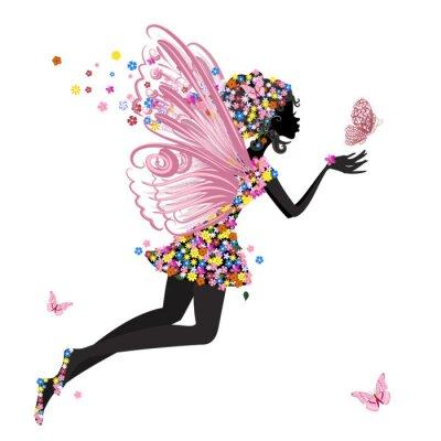 Naklejka Flower Fairy z Motyl