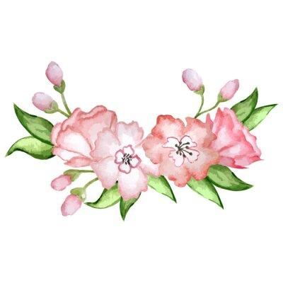 Naklejka flower wreath