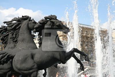 Fontanna z końmi