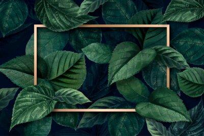 Naklejka Forest leaf frame
