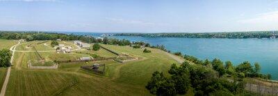Naklejka Fort George Niagara Canada aerial view