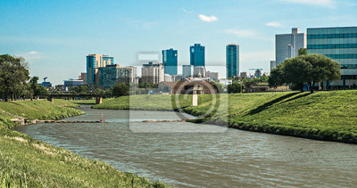 Naklejka Fort warte texas panoramę miasta i centrum miasta