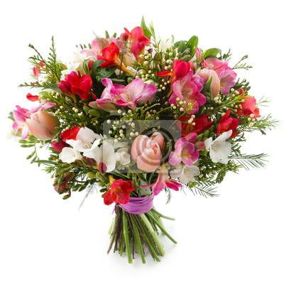 Naklejka Freesia bukiet kwiatów