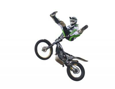 Naklejka Freestyle Stunt Rider wyizolowanych na białym tle.