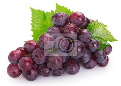 Naklejka Fresh grape on white background