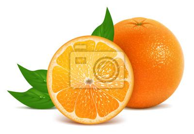 Naklejka Fresh pomarańczowy