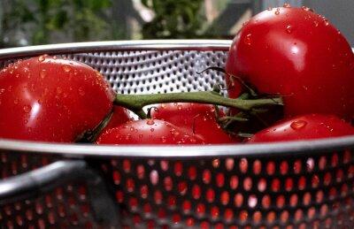Naklejka fresh tomatoes in colander