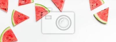 Naklejka Fresh watermelon slices pattern