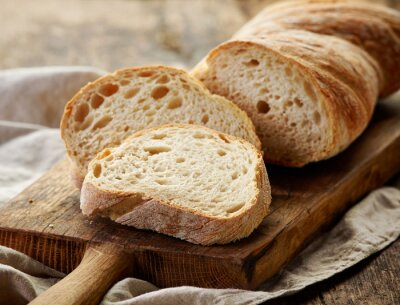 Naklejka freshly baked ciabatta bread