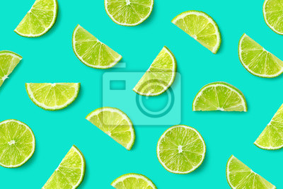 Naklejka Fruit pattern of lime slices