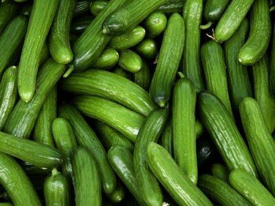 Naklejka Full Frame Shot Of Cucumbers For Sale In Market