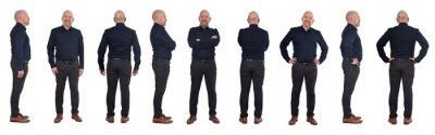 Naklejka full portrait of a man standing in various poses