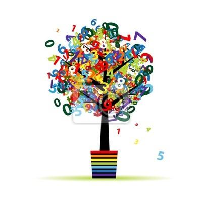 Naklejka Funny digital drzewo w doniczce do projektowania