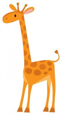 Naklejka Funny żyrafa