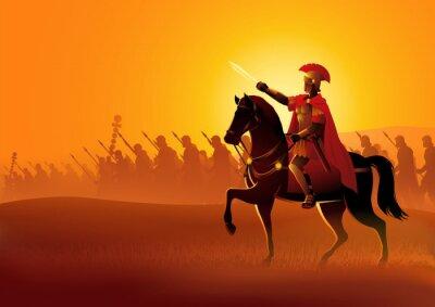 Naklejka Gaius Julius Caesar on horseback